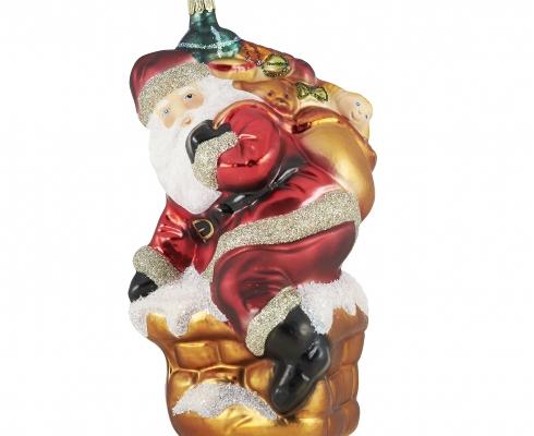 Christbaumschmuck Weihnachtsmann Auf Kamin Rodentaler Living Glass