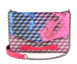 LOUP NOIR -  CLUTCH CHEVAL BLUE / PINK Thumbnail