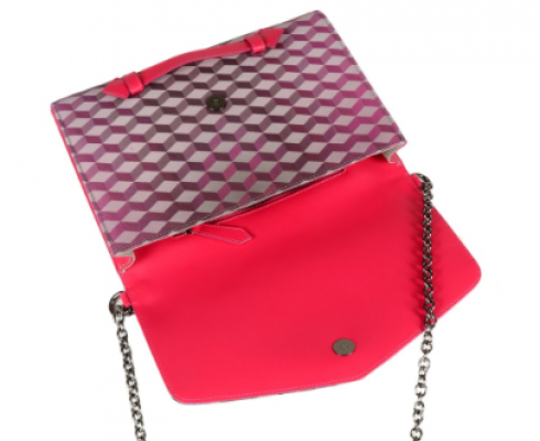 LOUP NOIR -  CLUTCH CHEVAL BLUE / PINK