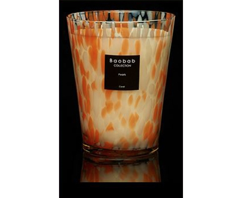 Baobab Collection - Duftkerze Pearls coral