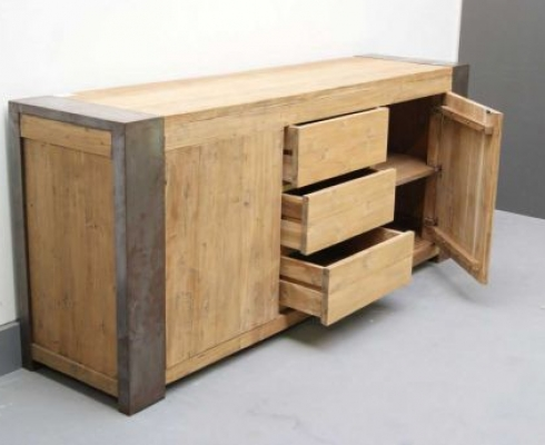 Woods-Kollektion - Sideboard Holz Stahl Industriedesign