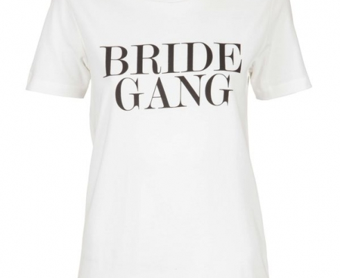IAY Collection - IAY BRIDAL T-SHIRT MIT PRINT 'BRIDE GANG' IN IVORY
