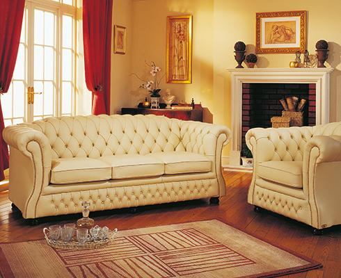 Springvale Leather - 'Blenheim' 2,5-Sitzer Chesterfield Sofa