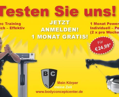 Body Concept Center - 1 Monat EMS Training/ Power Plate Vibrationstraining