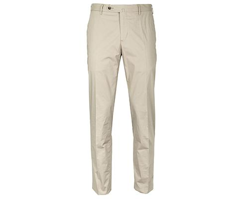 PT01 - Chino Slim Fit/Stretch in beige aus dünner Baumwolle