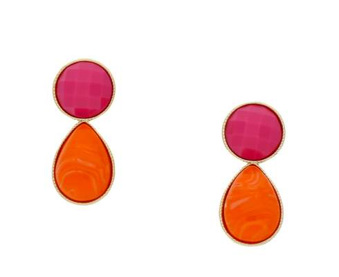 INAstyle - Benita Ohrring orange | pink