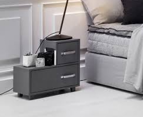 nachttisch hoch f r boxpring letti co stilpunkte. Black Bedroom Furniture Sets. Home Design Ideas