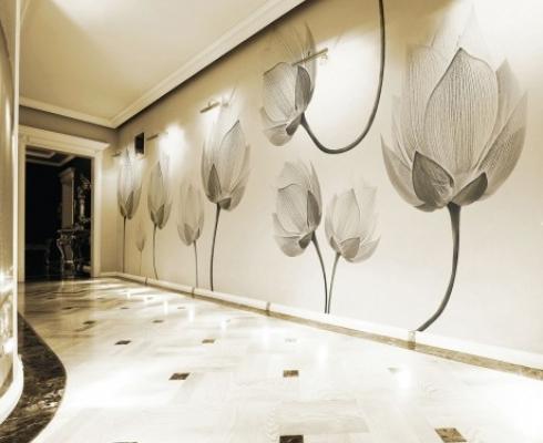 Wanddesign inkiostro bianco stilpunkte - Wanddesign ...