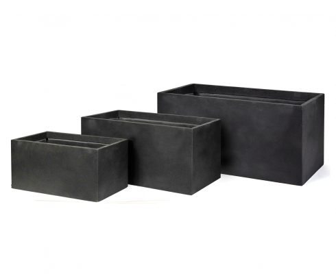 blumenkasten gro anthrazit l 100cm x b 45cm x h 45cm mega ceramics stilpunkte. Black Bedroom Furniture Sets. Home Design Ideas