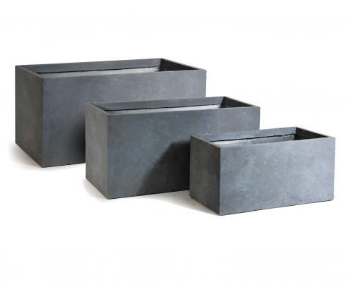 blumenkasten gro grau l 60cm x b 30cm x h 30cm mega ceramics stilpunkte. Black Bedroom Furniture Sets. Home Design Ideas