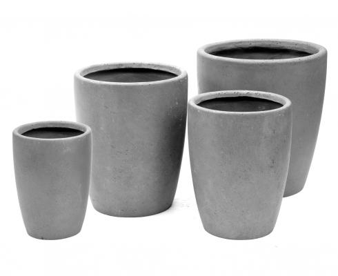 Pflanzkübel rund Grau Ø 50cm x H 56cm   Mega Ceramics - STILPUNKTE