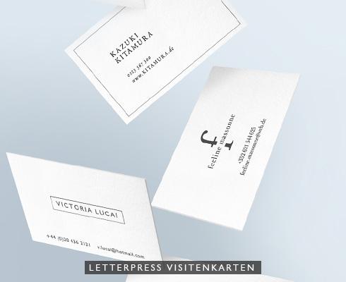 Letterpress Visitenkarten Stilpunkte
