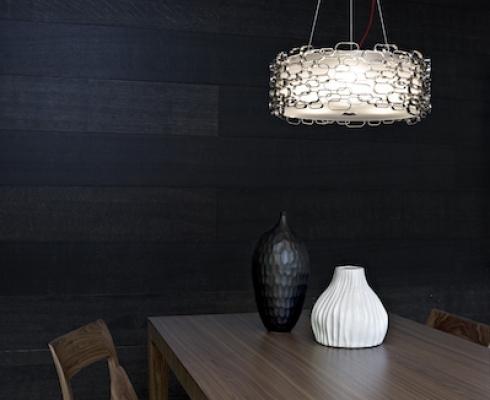 glamour leuchte terzani stilpunkte. Black Bedroom Furniture Sets. Home Design Ideas