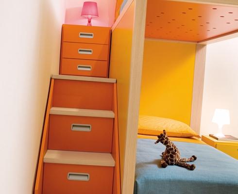 design hochbett f r m dchen dearkids stilpunkte. Black Bedroom Furniture Sets. Home Design Ideas