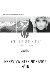 Stilpunkte Lifestyle Guide eMagazin Herbst/Winter 2013/2014 - Köln