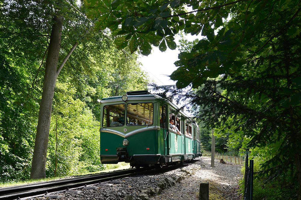 Stilpunkte-Blog: Diehistorische Drachenfelsbahn bringt Besucher hoch zuR Burgruine und zum Aussichtsplateau