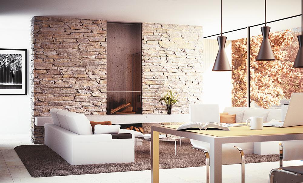 Stilpunkt-Blog: Bruchsteinwand aus Natursteinen