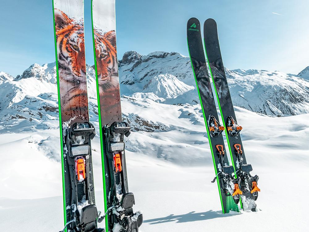 STILPUNKTE-Blog: Das Gründerteam von Pillowdrop. Skier im Zeichen von Schneeleopard, Wolf und Grizzlybär.