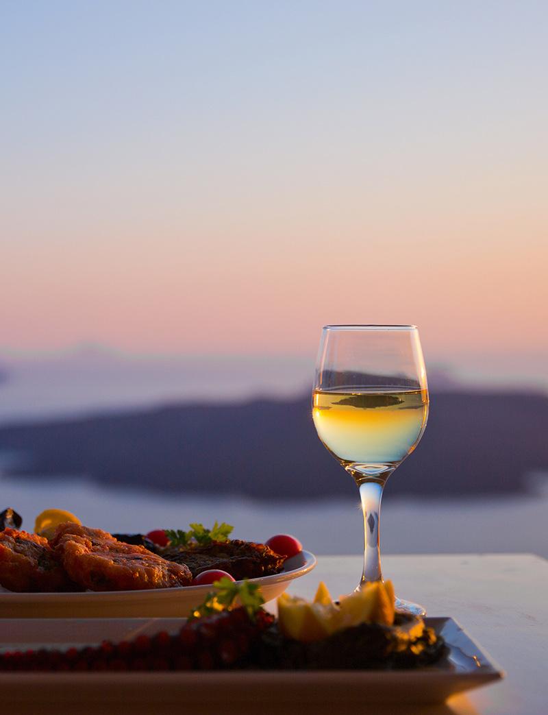 Stilpunkte-Blog: Santorini mit Blick auf die Caldera