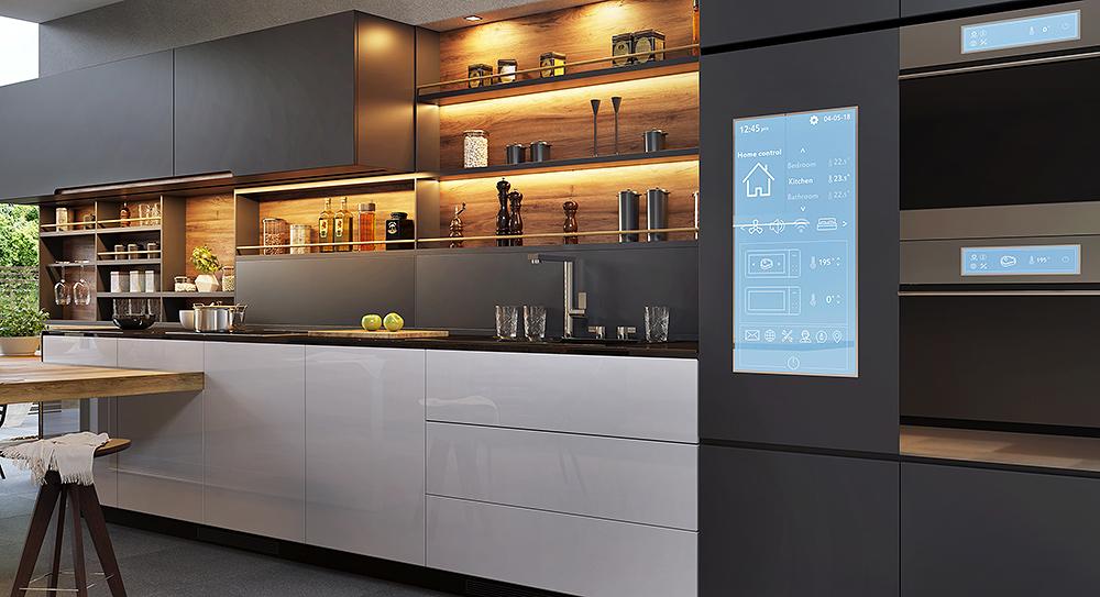Smart Home Küche: Wohnen in der Zukunft mit Smart Home, Smart Living Konzepte versprechen nicht nur Energieeffizienz, sondern auch Zeitgewinn und Komfort.