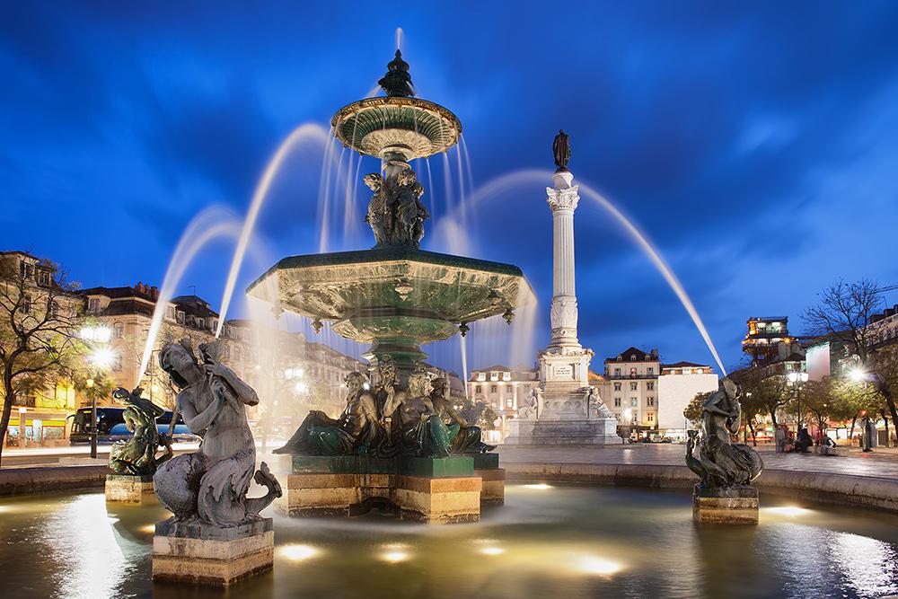 STILPUNKTE-Reisetipp: Lissabon mit dem Rossio Brunnen