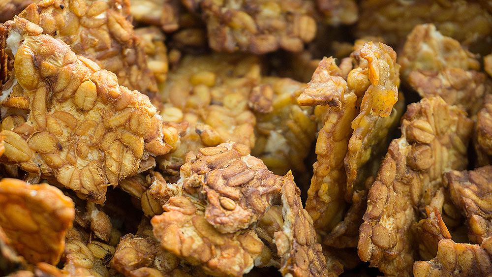 Stilpunkte-Blog: Tempeh gebraten, ein würziger, vegetarischer Snack für Zwischendurch.