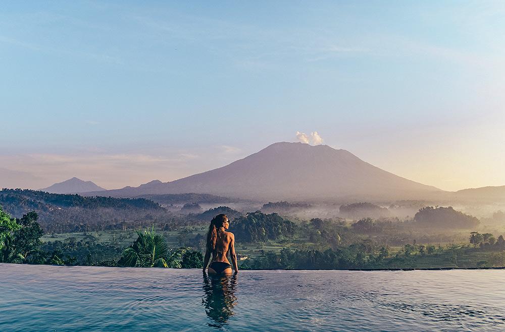 Stilpunkte-Blog: Die spektakulärsten Infinity-Pools, Bali, Urwald, Genug Tagung, Reisterrassen