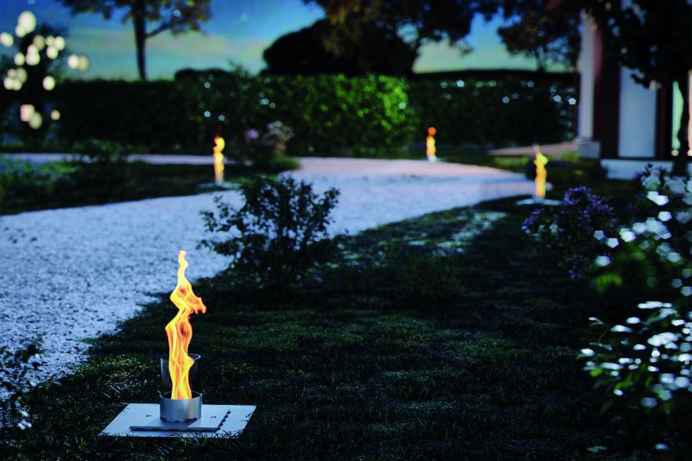 Spartherm Feuerungstechnik, Melle, Flammenspiel, KALAYO-Modelle, rostfreien Feuersäulen, geradliniges Design, Design-Statement, KALAYO tubo-Q,