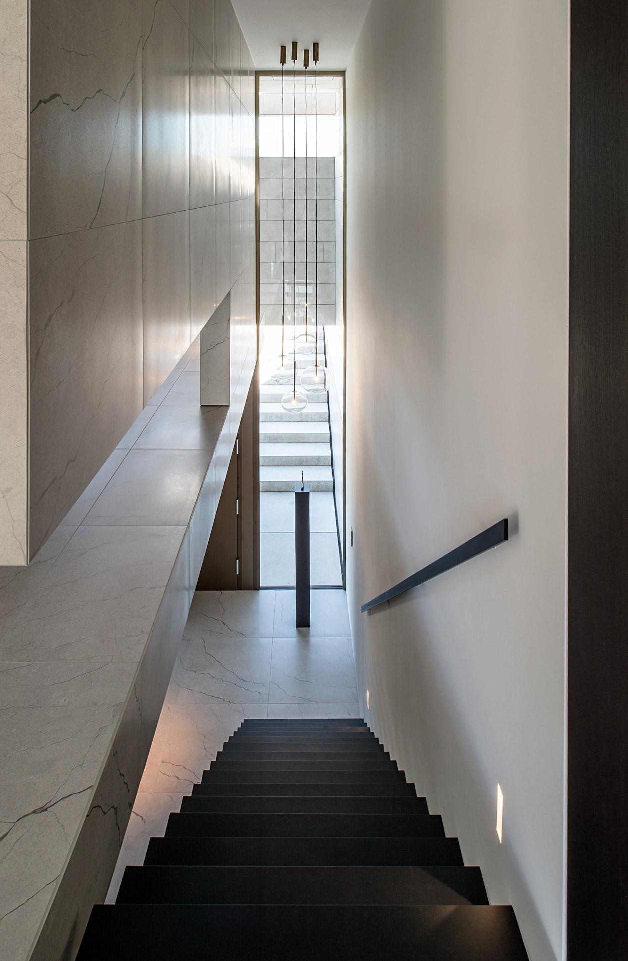 Objekt Bünck: Treppenaufgang. Foto: Dr. Klaus Schörner
