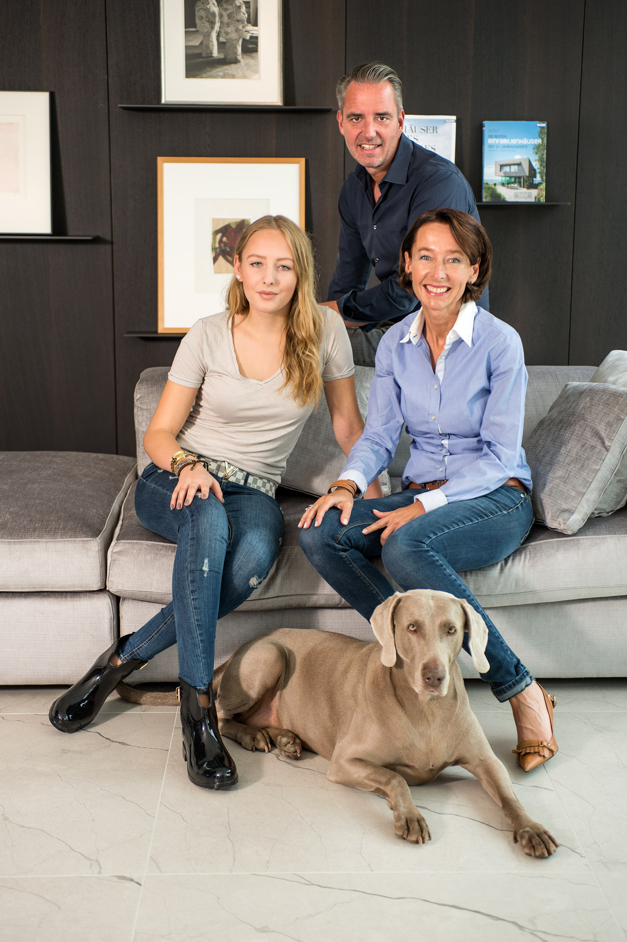 Familie Carsten Bünck, Foto: Dr. Klaus Schörner / Stilpunkte